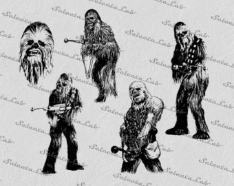 Etsy digital svg png. Chewbacca clipart back