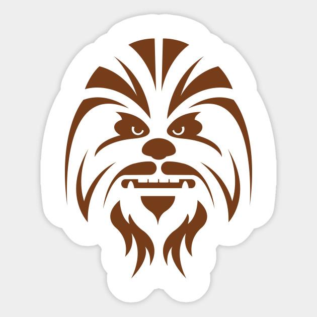Chewbacca clipart back.