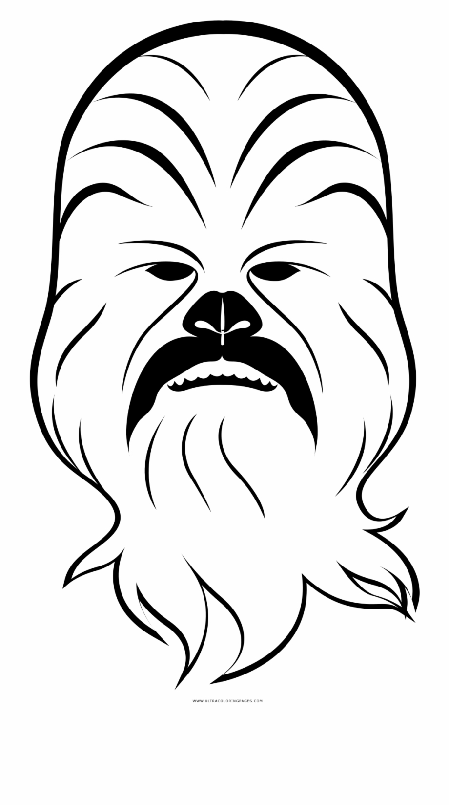 Coloring page desenho para. Chewbacca clipart black and white