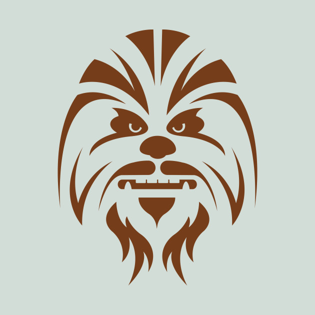 Chewbacca clipart black and white. Star wars t shirt