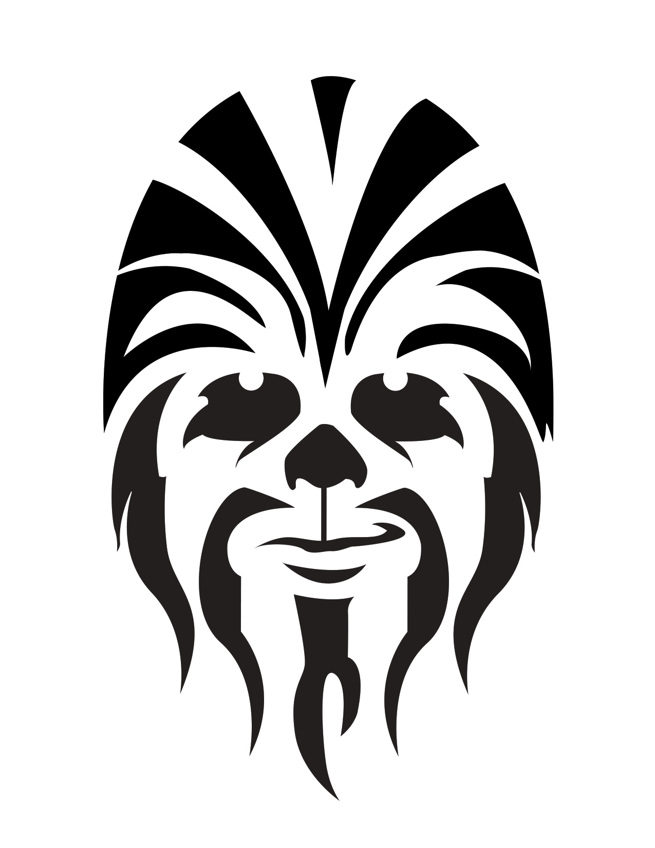 Chewbacca clipart black and white. Icon free icons library