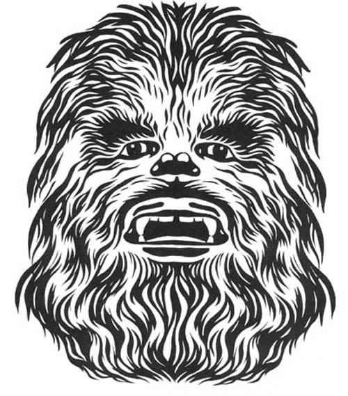 Free cliparts download clip. Chewbacca clipart black and white