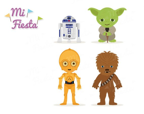 Chewbacca clipart c3po. Star wars inspired c