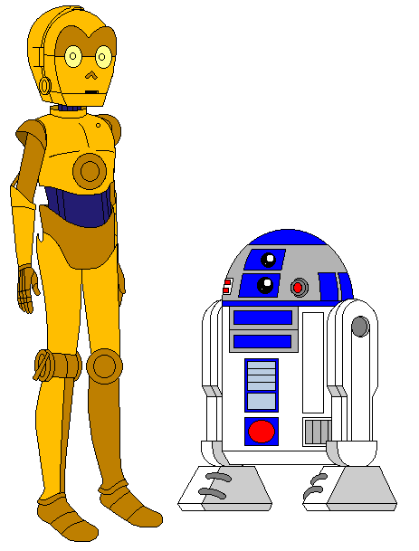 Chewbacca clipart c3po r2d2. Mlprgswa c po and