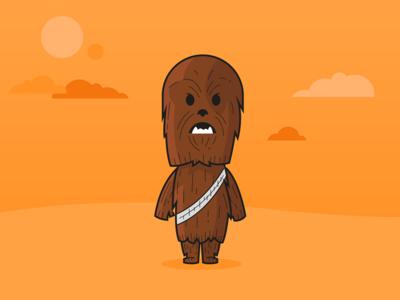 Chewbacca clipart chewbaca. Star wars by nicol