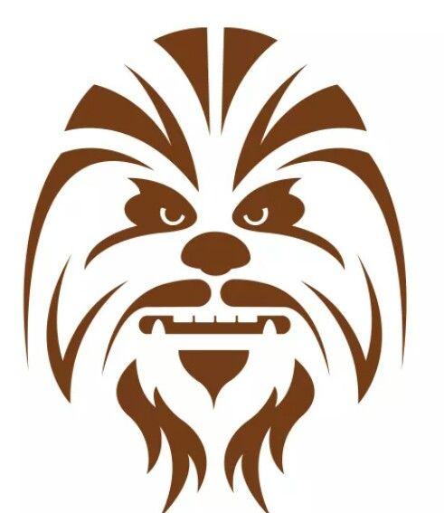 Chewbacca clipart chewbacca face. Star wars stencil art