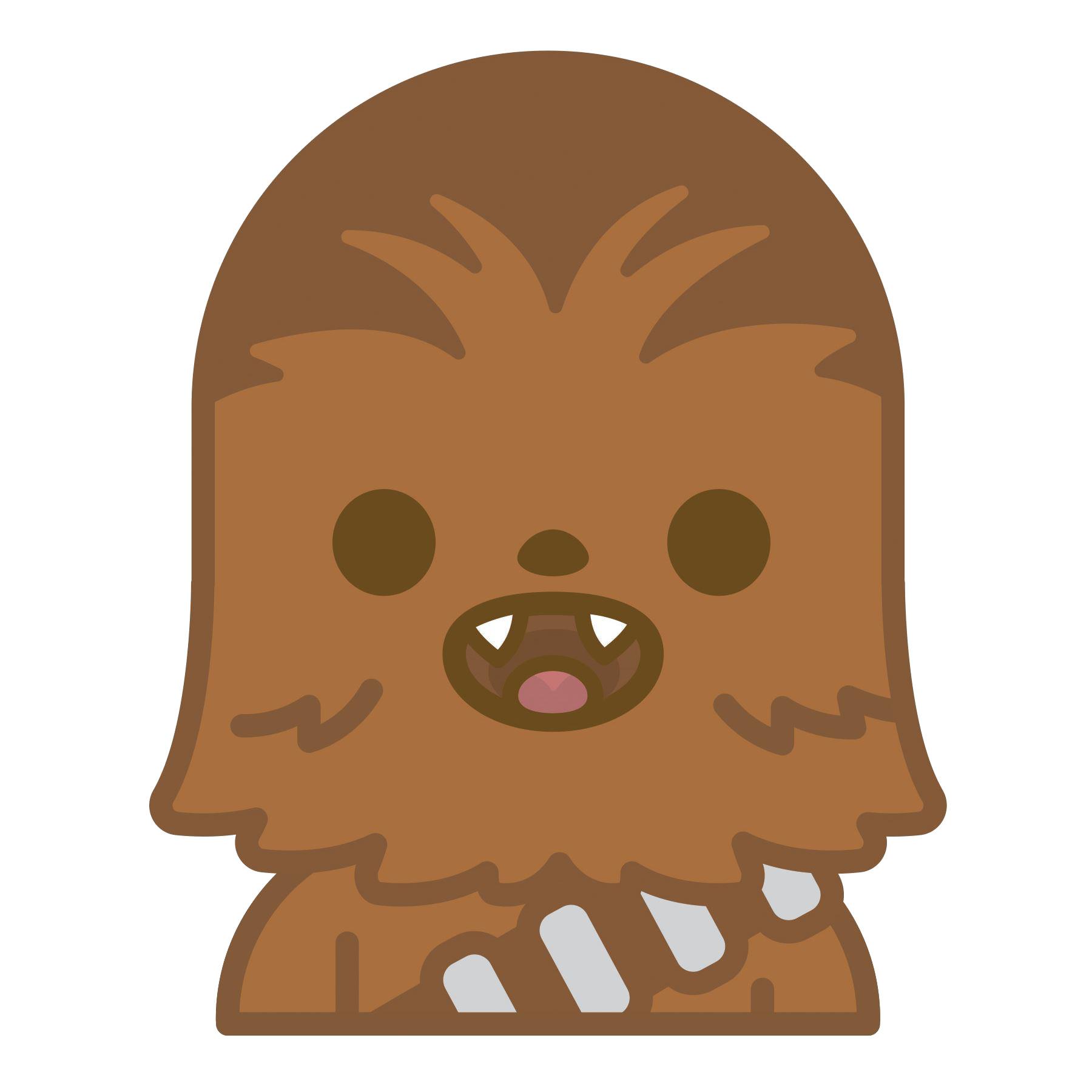 star wa rs. Chewbacca clipart chewbacca face