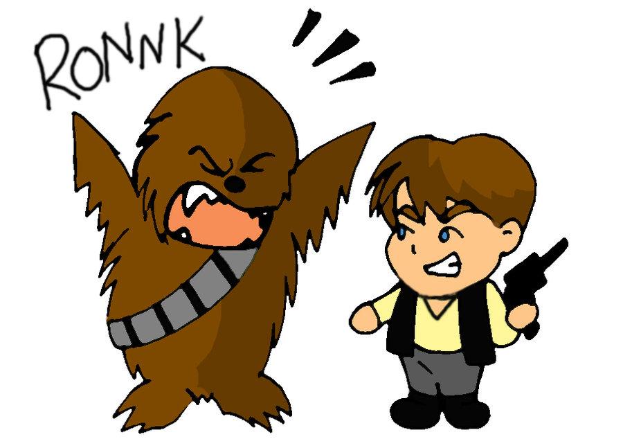 Han an chewie chan. Chewbacca clipart chibi