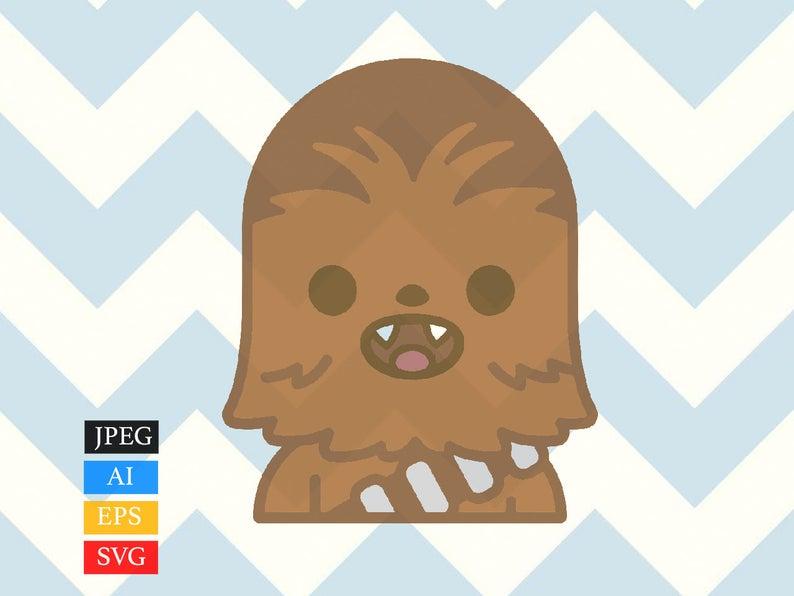 Star wars chewie svg. Chewbacca clipart chibi