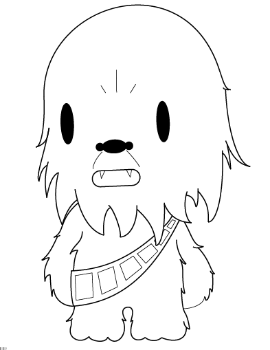 Chewbacca clipart chibi. Outlines by nirvanaatje on
