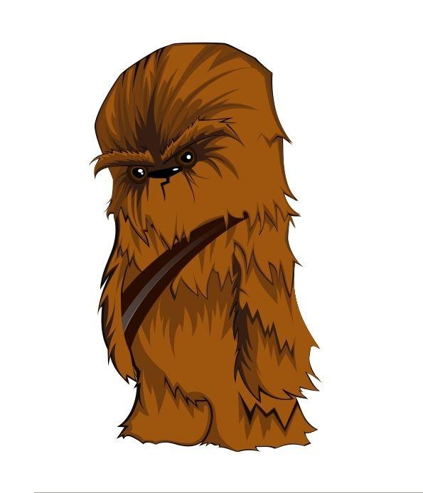 Chewbacca clipart chibi. Mini geektastic star wars
