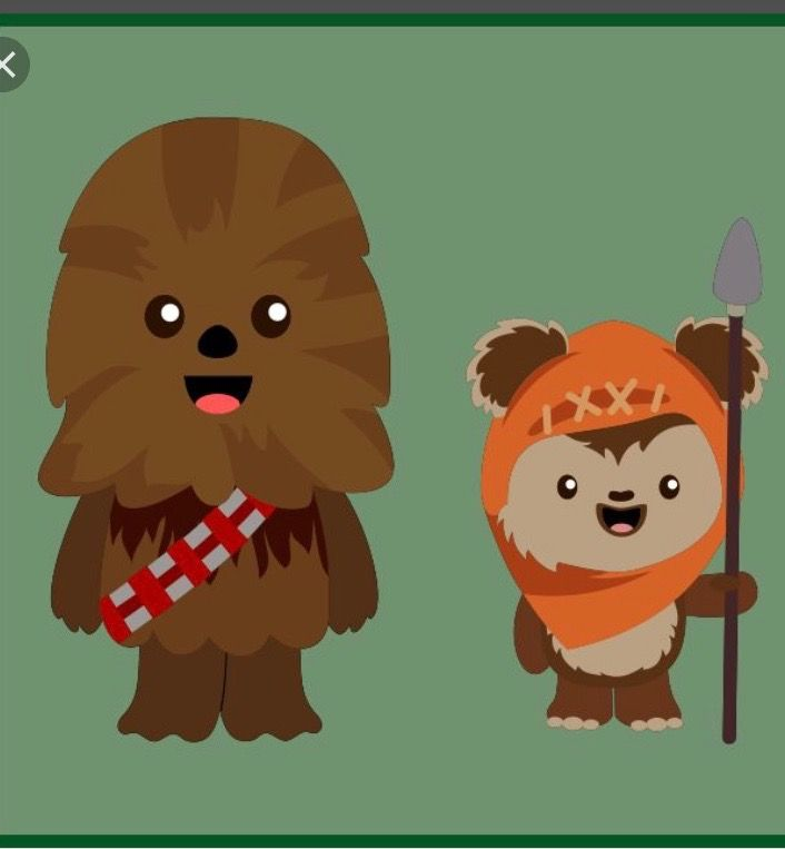 And ewok emoji from. Chewbacca clipart cute