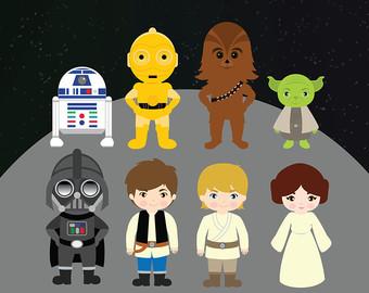Chewbacca clipart cute. Star wars etsy starwars