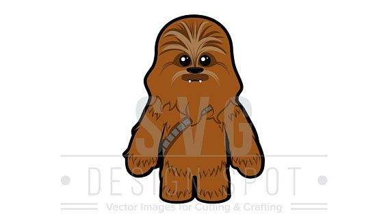 Chewbacca clipart cute. Star wars baby svg