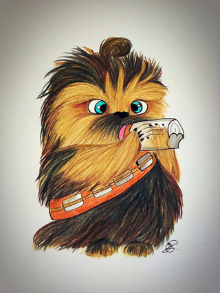 chewbacca clipart drawing