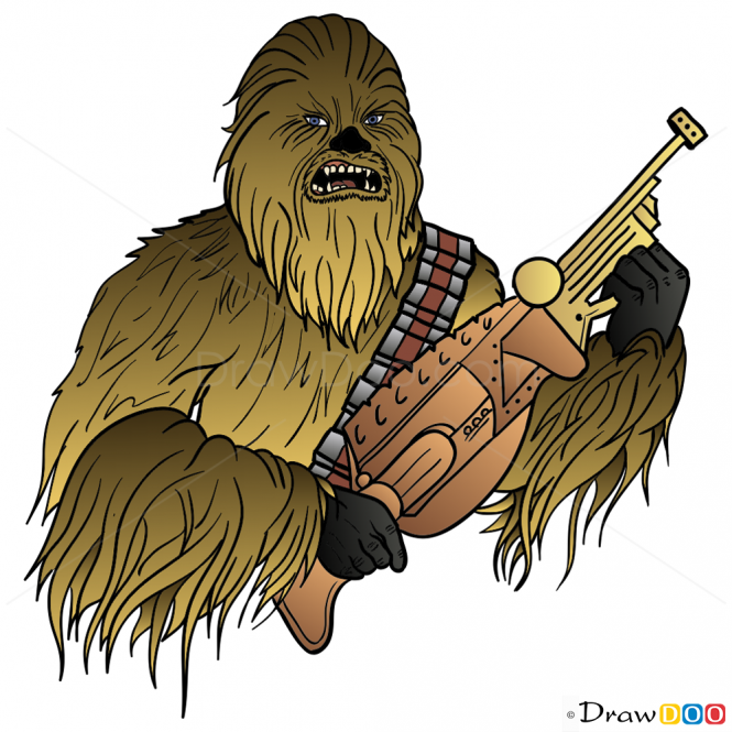 Chewbacca clipart drawing. How to draw star