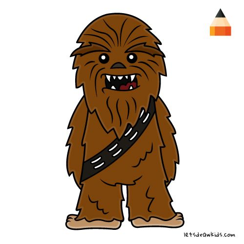 Chewbacca clipart drawing. How to draw cartoons