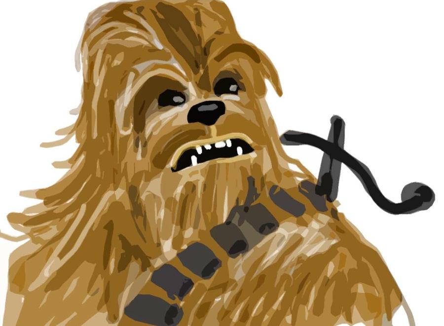 Download starwars star wars. Chewbacca clipart drawing