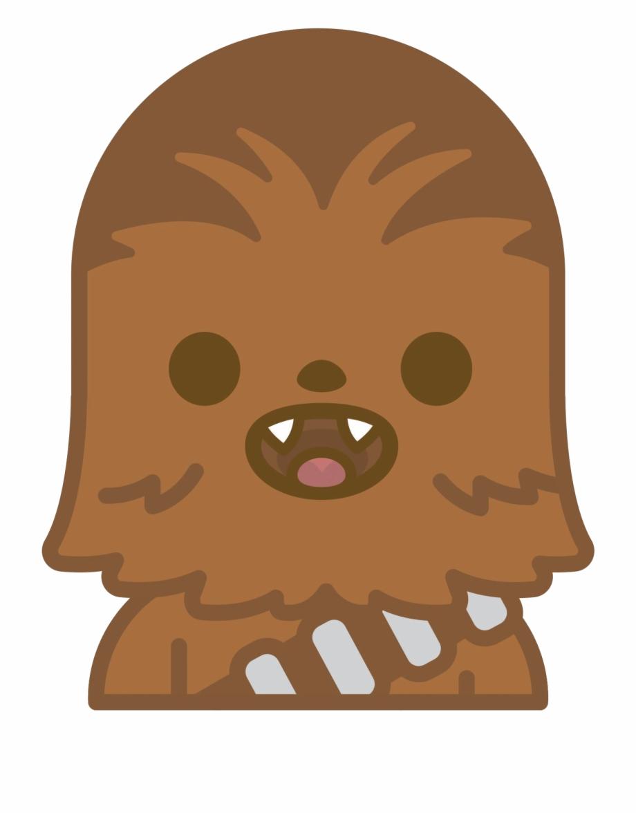 Chewbacca clipart emoji. Star wars kawaii