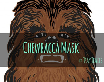 Vector etsy photobooth mask. Chewbacca clipart file