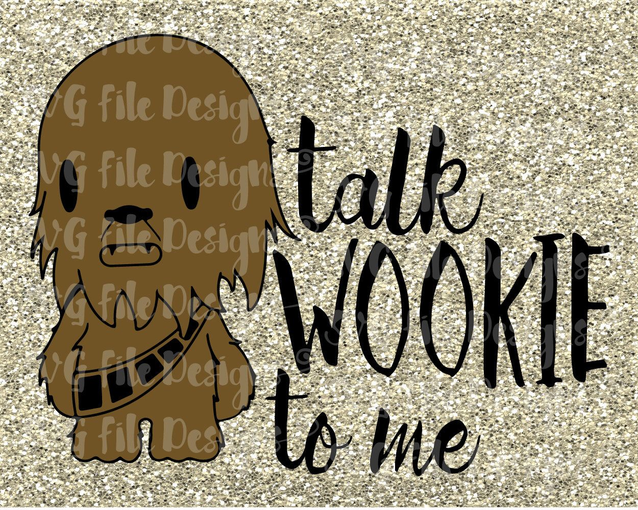 Talk wookie to me. Chewbacca clipart file