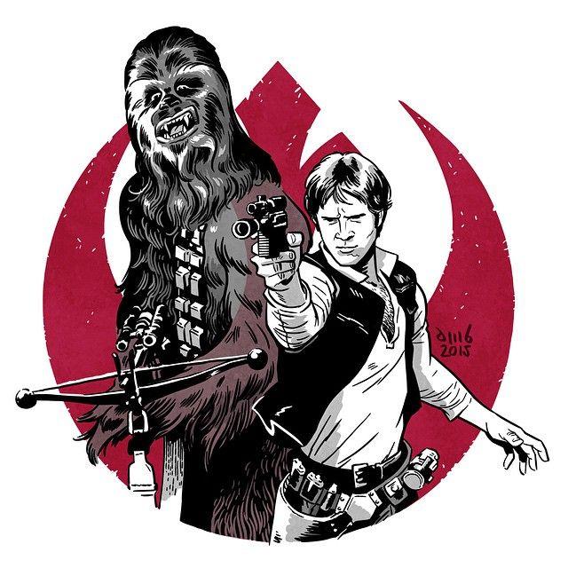 Star wars . Chewbacca clipart han solo chewbacca