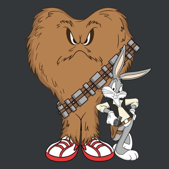 Chewbacca clipart han solo chewbacca. Scoundrels shirtigo bugs bunny