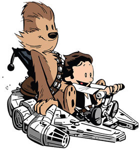 Chewbacca clipart han solo chewbacca. Calvin and hobbes play