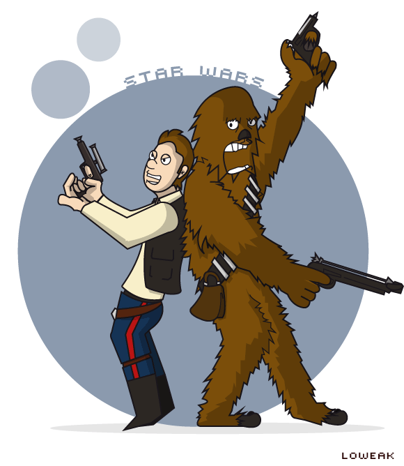 Chewbacca clipart han solo chewbacca. And by loweak on