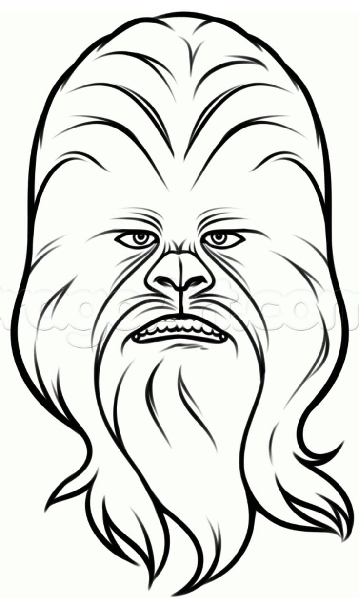 Chewbacca clipart head. Drawing at getdrawings com
