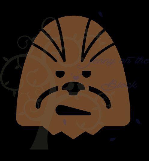 chewbacca clipart head