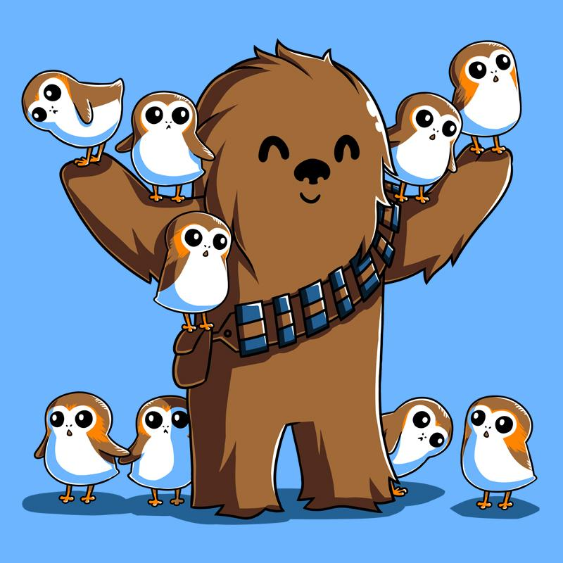 Chewie and porgs t. Chewbacca clipart kawaii