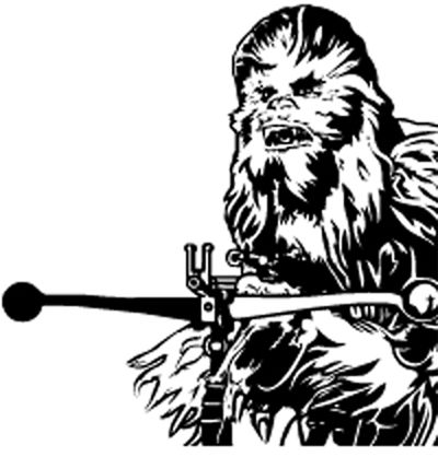 Chewbacca clipart outline.  best star wars