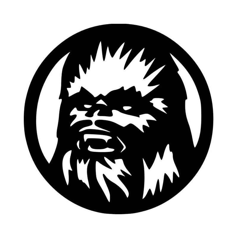 Chewbacca clipart outline. Vinyl decal sticker and