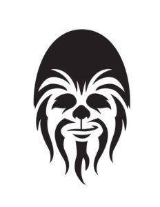 Chewbacca clipart outline. Silhouette pinterest star and
