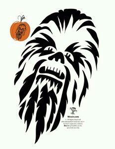 Chewbaccapumpkinstencil star wars pinterest. Chewbacca clipart outline