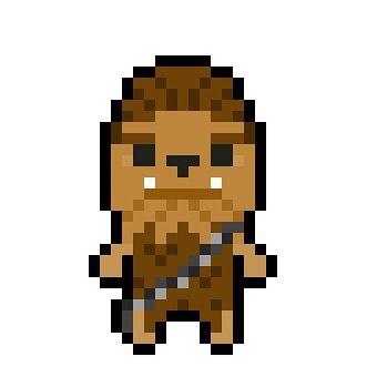 Chewbacca clipart pixel art. By bit craft chewie