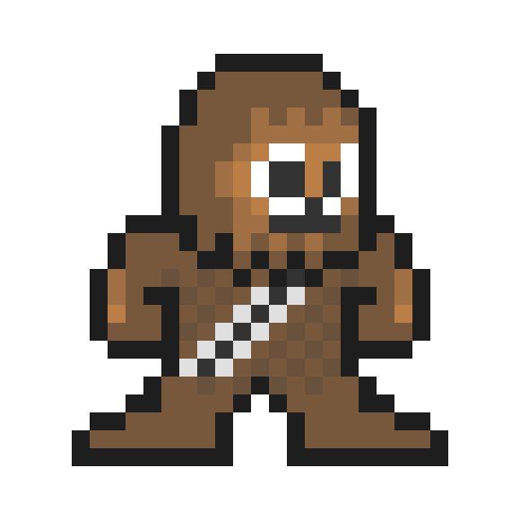 Cross stitch star wars. Chewbacca clipart pixel art