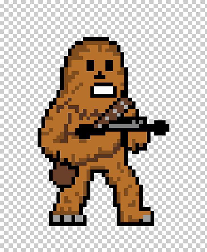 Chewbacca clipart pixel art. Han solo wookiee png