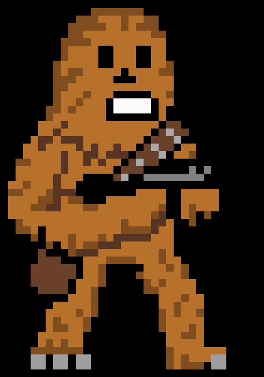 Chewbacca clipart pixel art. Hd avatar aang free