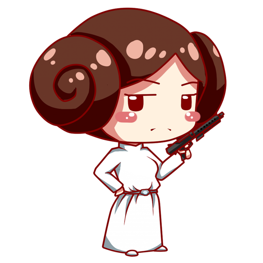 By moukitsu on deviantart. Starwars clipart princess leia