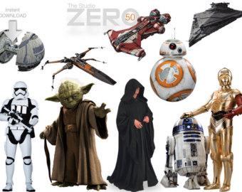 Chewbacca clipart printable. Star wars etsy digital