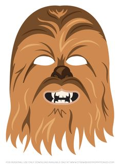 Chewbacca clipart printable. Mask click the picture