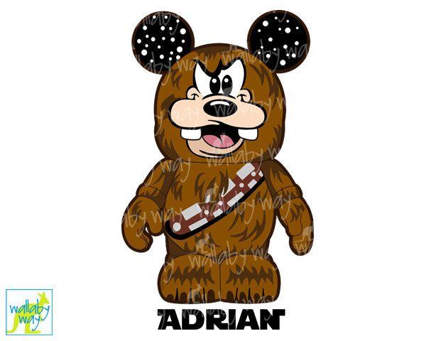Chewbacca clipart printable. Goofy star wars disney
