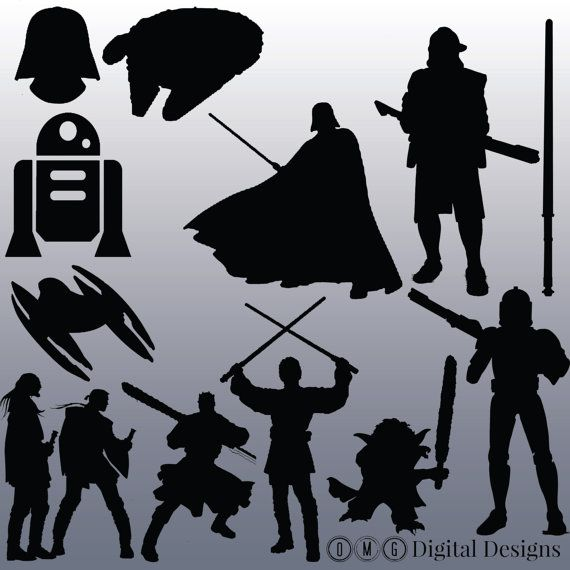 star wars images. Chewbacca clipart silhouette