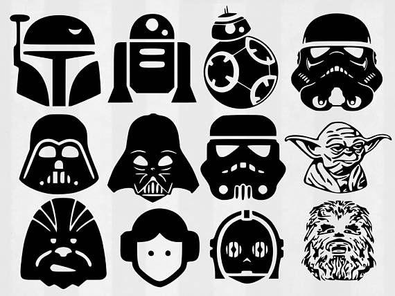 Star wars svg bundle. Chewbacca clipart silhouette