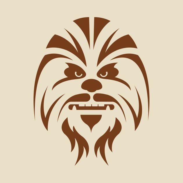 Star wars art tshirt. Chewbacca clipart silhouette