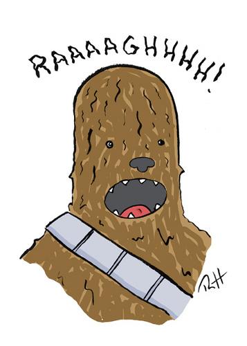 chewbacca clipart simple