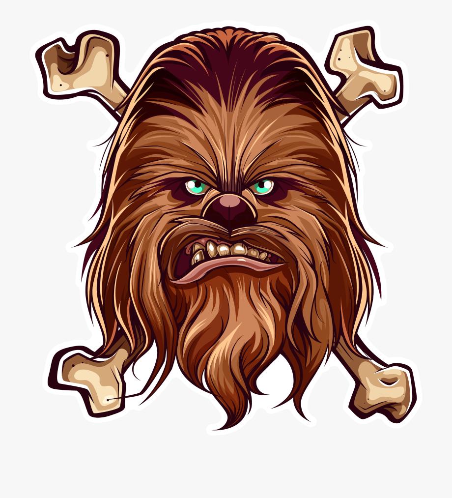 Chewbacca clipart simple. Sticker set where i