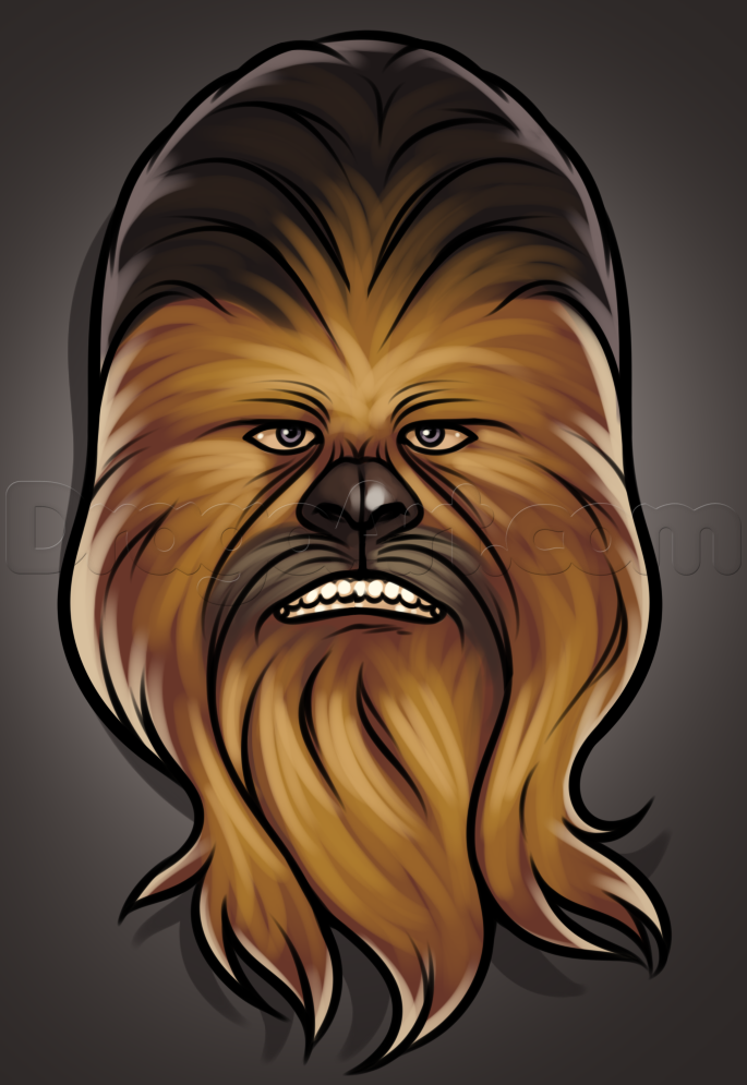 How to draw easy. Chewbacca clipart simple